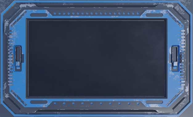 Zwart futuristisch de tabletapparaat van het staalscherm in era sc.i fi.
