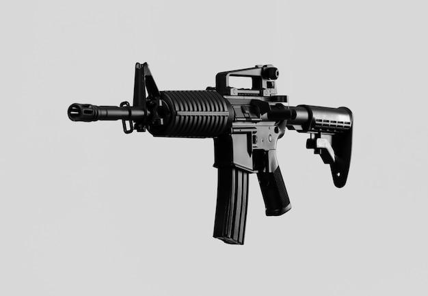 Zwart geïsoleerd geweer
