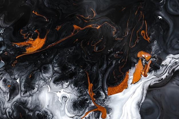 Zwart gemarmerd effect natuurlijk luxe kunst in oosterse stijl gouden swirl artistiek ontwerp