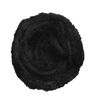 Zwart geschilderde cirkel geïsoleerd op wit