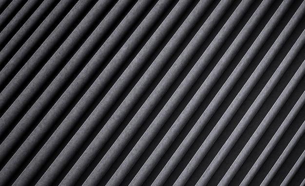Zwart gestreepte textuur, donkere geribbelde metalen achtergrond
