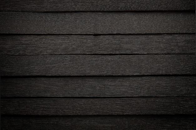 Zwart houten paneel in donkere stijl voor achtergrond.