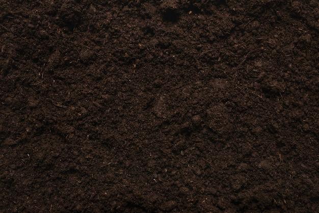 Zwart land voor installatieachtergrond. bovenaanzicht.