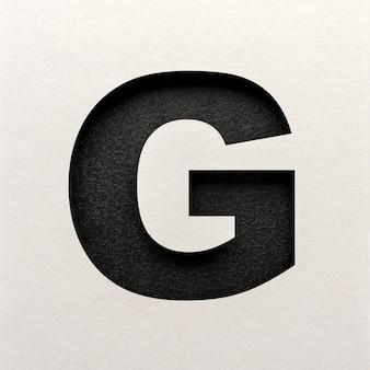 Zwart leer lettertype ontwerp, abstract alfabet lettertype, realistische typografie - g.
