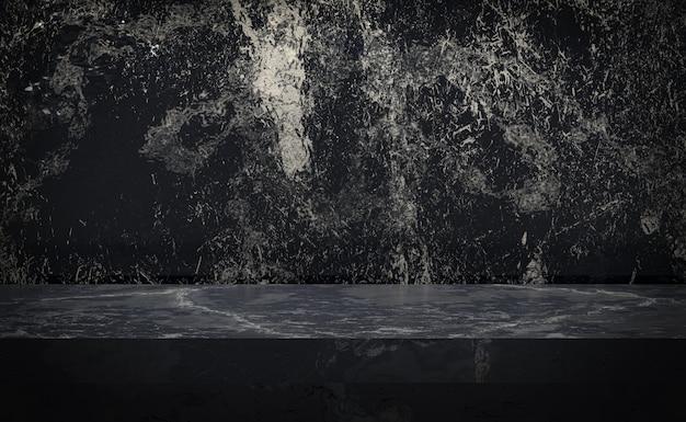Zwart marmeren tafel luxe achtergrond voor display product staan met lege kopie ruimte