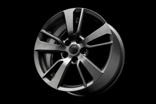 Zwart mat mode-lichtmetalen wiel, een product voor het afstemmen van auto's. detailopname