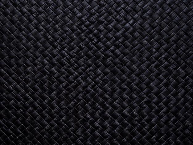 Zwart met texturen en patronen.
