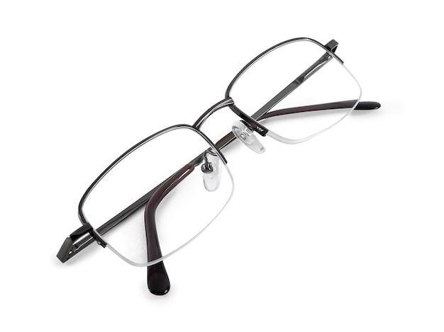 Zwart metalen bril voor zichtcorrectie