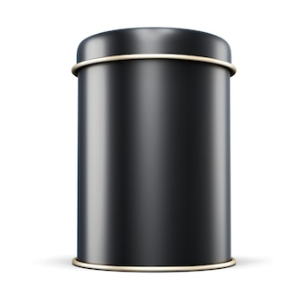 Zwart metalen potje voor thee