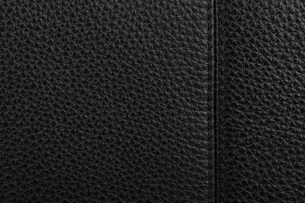 Zwart natuurlijk leder textuur achtergrond