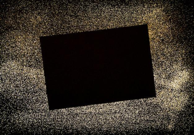 Zwart papier en lijst