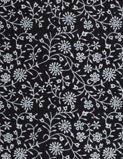 Zwart papier witte bloemen