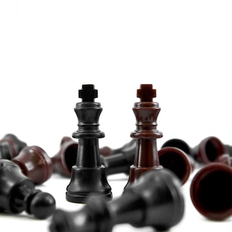 Zwart partners spel zakelijke outwit