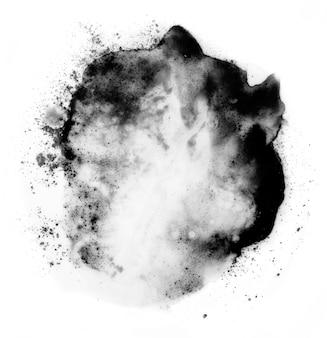 Zwart pastel. abstracte plek op een witte achtergrond