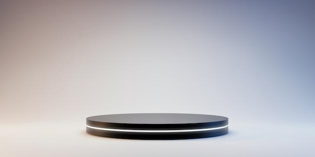 Zwart platform voor het tonen van product