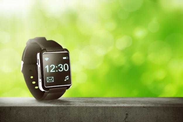 Zwart slim horloge