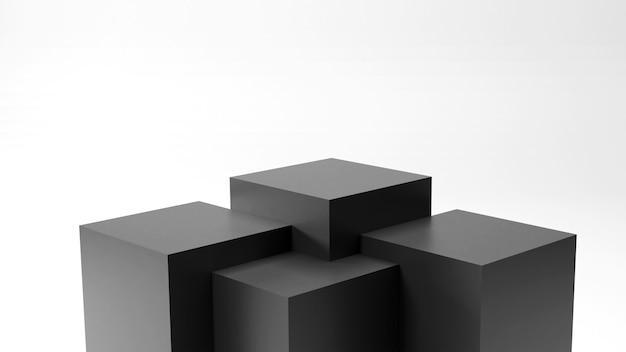 Zwart staan product in 3d render
