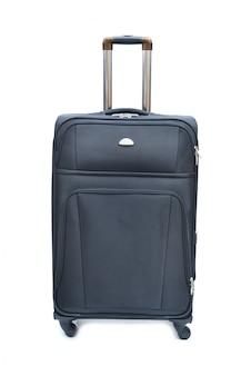 Zwart van moderne grote koffer op een wit