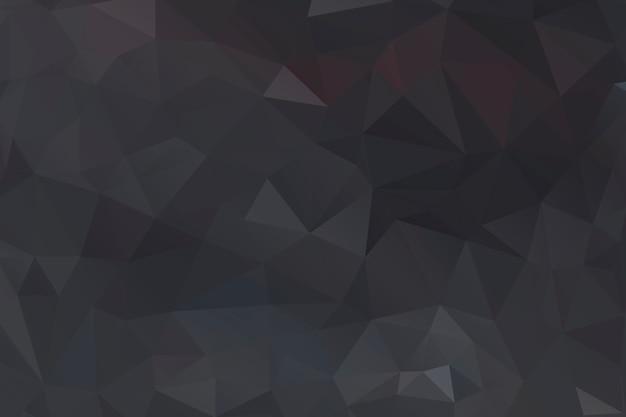 Zwart veelhoek abstract achtergrondontwerp