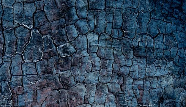 Zwart verbrand hout oppervlak close-up achtergrond