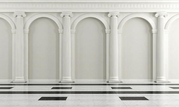 Zwart-wit klassiek interieur