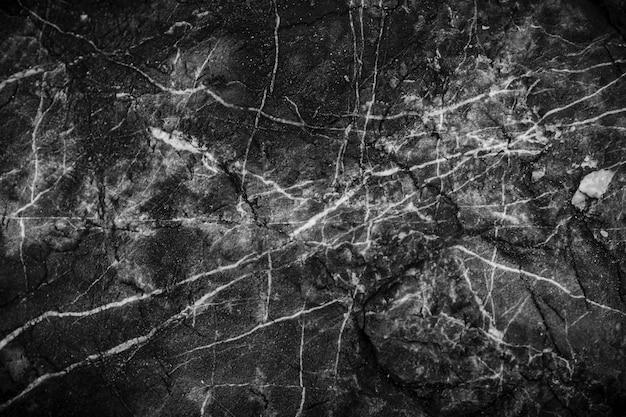 Zwart-wit marmeren achtergrond en textuurpatroon met hoge resolutie.