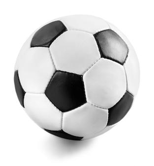 Zwart-wit voetbal op de witte achtergrond