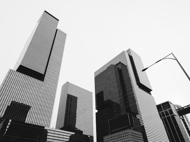 Zwart-witte architectuur van seoel