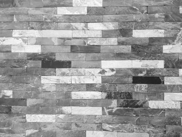 Zwart-witte baksteen en concrete textuur voor patroon abstracte achtergrond.