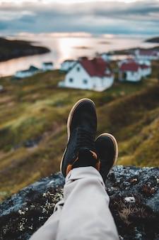 Zwart-witte lage sneakers