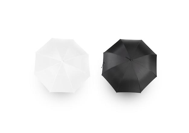 Zwart-witte paraplu-mockups,