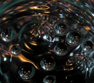 Zwarte abstracte bubble achtergrond