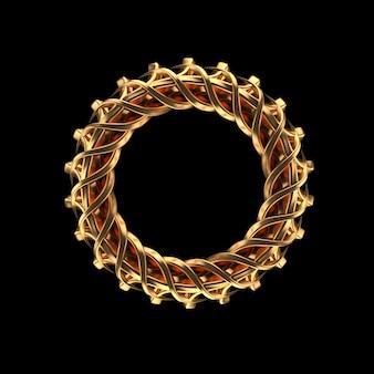 Zwarte achtergrond met gouden geïsoleerde juwelen.