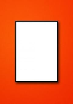 Zwarte afbeeldingsframe opknoping op een muur