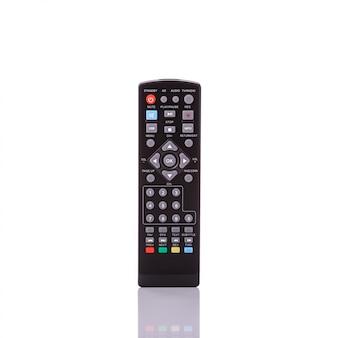 Zwarte afstandsbediening voor televisie.