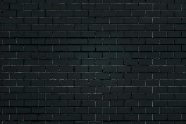 Zwarte bakstenen muur achtergrond