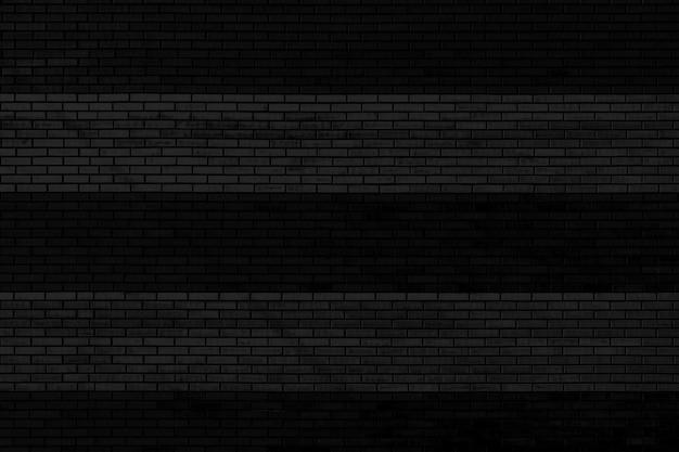 Zwarte bakstenen muur patroon oppervlak