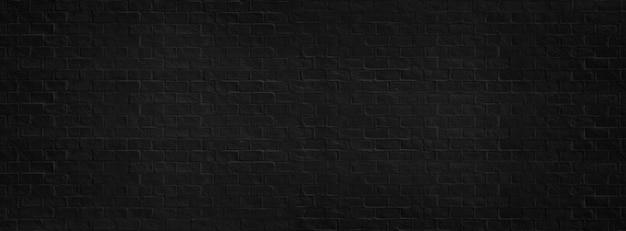 Zwarte bakstenen muur