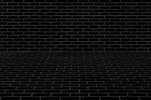 Zwarte betonnen muur textuur voor en constructie