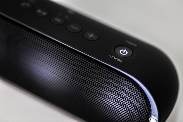Zwarte bluetooth-luidspreker met verlichting
