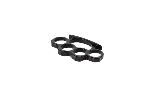 Zwarte boksbeugels geïsoleerd op een wit oppervlak