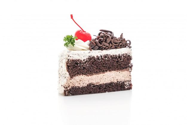 Zwarte bos cake geïsoleerd