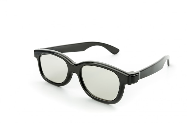 Zwarte bril geïsoleerd op wit