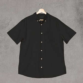 Zwarte casual kleding voor heren met korte mouwen