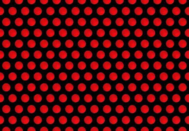 Zwarte cirkel gatenpatroon rooster op rode muur achtergrond