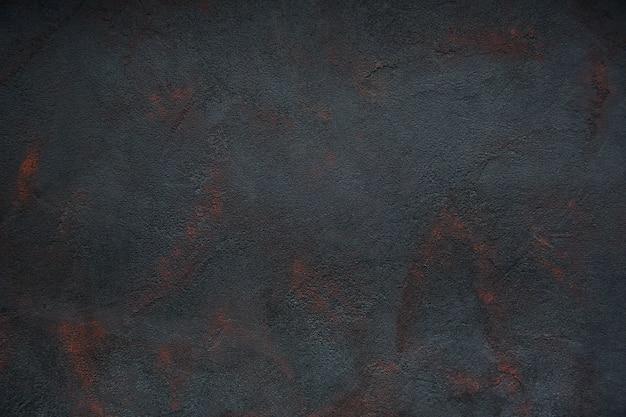 Zwarte concrete textuur geroeste abstracte achtergrond