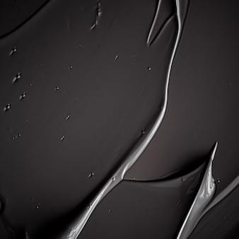 Zwarte crème textuur achtergrond cosmetisch product en make-up achtergrond voor luxe beauty merk vakantie ...