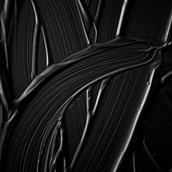 Zwarte crème textuur achtergrond cosmetisch product en make-up achtergrond voor luxe schoonheid merk vakantie banner ontwerp abstracte kunst aan de muur of artistieke verf penseelstreken