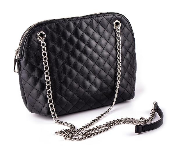Zwarte dameshandtas met ketting