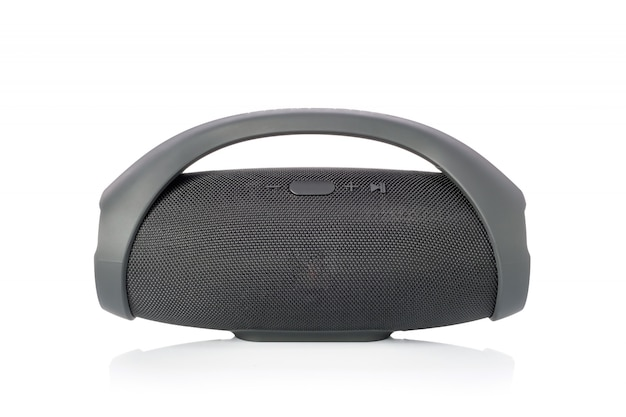 Zwarte draadloze draagbare bluetooth-luidspreker
